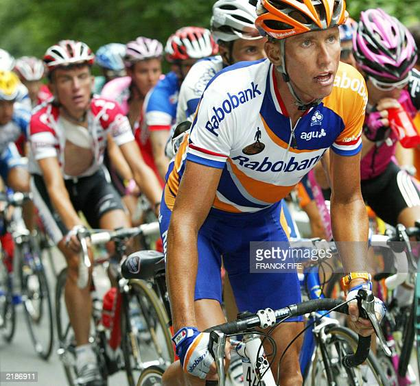 Dutch Michael Boogerd rides during the 15th stage of the 90th Tour de France cycling race between Bagneres-de-Bigorre and Luz-Ardiden, 21 July 2003....