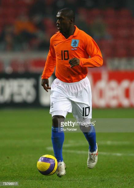 Dutch midfielder Clarence Seedorf makes a run during the International friendly match between Netherlands and Russia at the Amsterdam Arena on...
