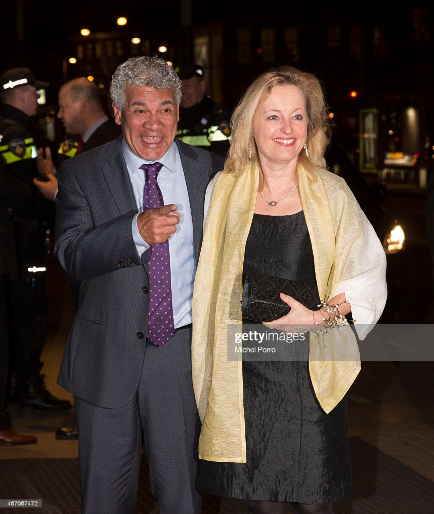 Dutch Minister for Education Jet Bussemaker and her husband Garth Sylbing arrive to attend the last concert by conductor Mariss Jansons at the Royal Concertgebouw Orchestra on March 20, 2015 in Amsterdam, The Netherlands.