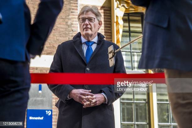 Dutch Minister for Medical Care and Sport Martin van Rijn arrives at the Binnenhof for the weekly Council of Ministers in The Hague, The Netherlands,...