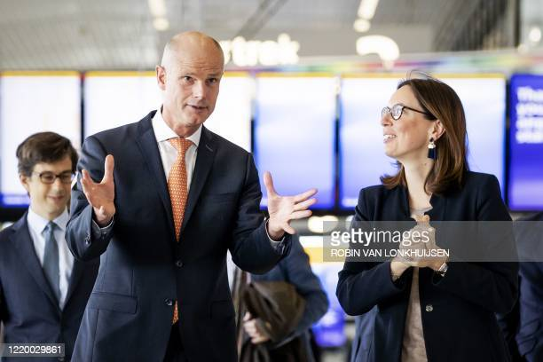 Dutch minister of Foreign Affairs Stef Blok receives French Secretary of State for European Affairs Amelie de Montchalin during a working visit to...