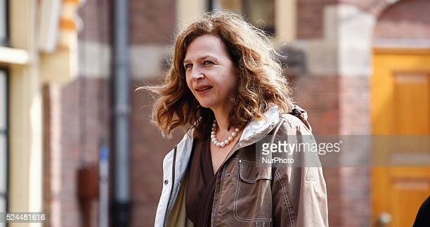 Dutch Minister of Public Health Edith Schippers is seen arriving at the weekly ministers council on friday