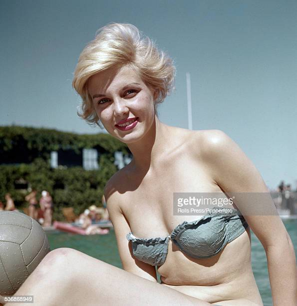 Dutch model and future winner of the 1959 Miss World contest Corine Rottschafer pictured wearing a bikini in 1958