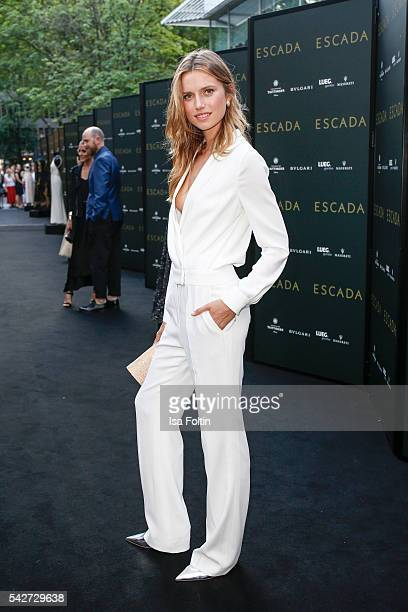 Dutch Model Cato van Ee attends the ESCADA Flagship Store Opening on June 23 2016 in Duesseldorf Germany