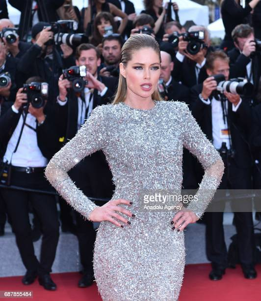 Dutch model Doutzen Kroes arrives for the premiere of the film The Beguiled in competition at the 70th annual Cannes Film Festival in Cannes France...