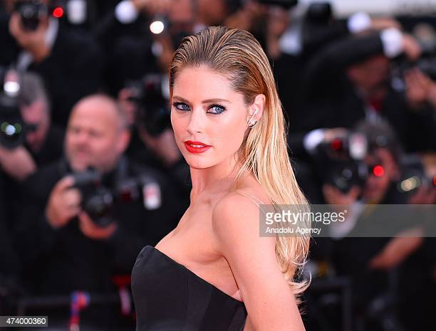 Dutch model Doutzen Kroes arrives for the screening of the film 'Sicario' at the 68th annual Cannes Film Festival in Cannes France on May 19 2015