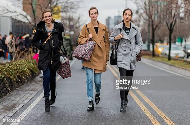 Dutch model Maartje Verhoef seen outside Coach during New York Fashion Week: Women's Fall/Winter 2016 on February 16, 2016 in New York City.