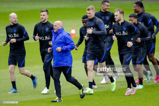 Dutch national football team players attend a training session at the KNVB Campus on May 25, 2021 in Zeist. - Netherlands OUT / Netherlands OUT
