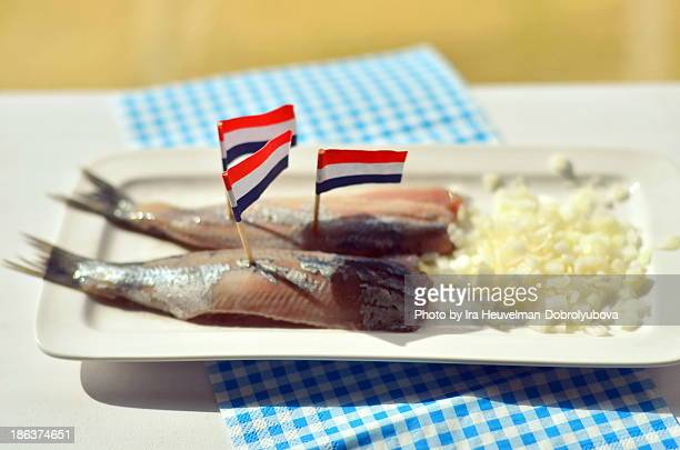 Dutch New Herring traditionally served with onions