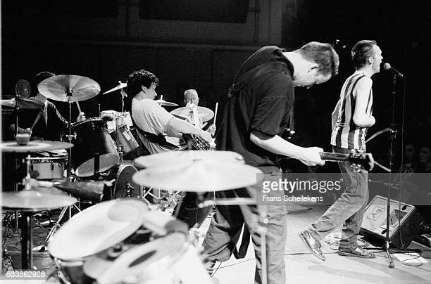 Dutch noise band The Ex Performs With Han Bennink On June 29th 1991 At The Bim Huis In Amsterdam, the Netherlands.