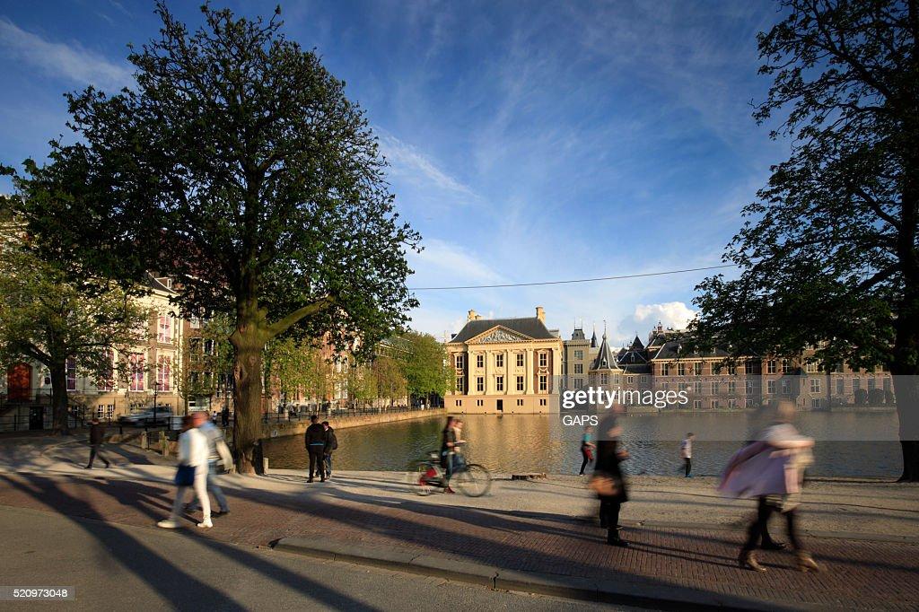 Dutch parliament buildings in The Hague : Stock Photo