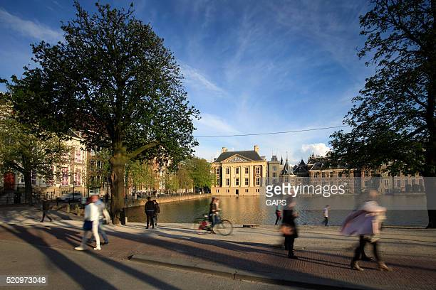 dutch parliament buildings in the hague - binnenhof stock photos and pictures