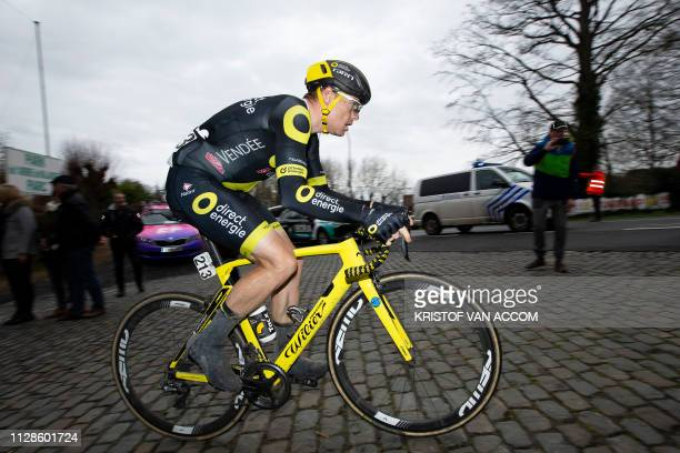 Dutch Pim Ligthart of Direct Energie pictured in action during the 71st edition of the KuurneBrusselsKuurne one day cycling race1 km from Kuurne to...