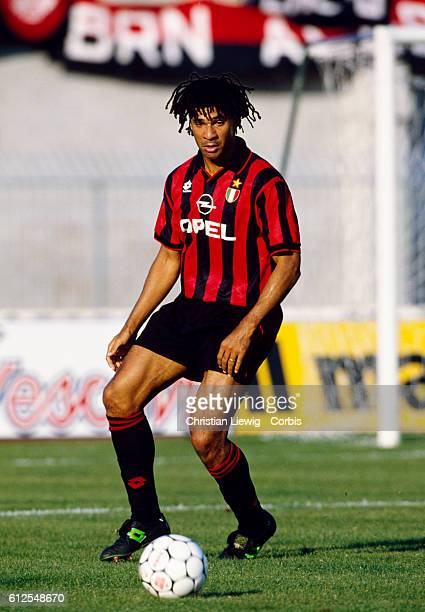 Dutch player Ruud Gullit in action for AC Milan during the 19941995 season