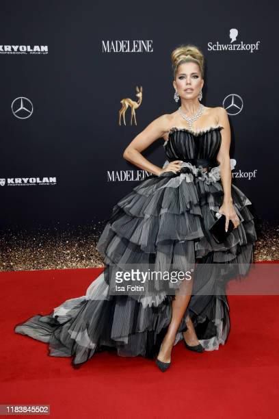 Dutch presenter Sylvie Meis arrives for the 71st Bambi Awards at Festspielhaus Baden-Baden on November 21, 2019 in Baden-Baden, Germany.