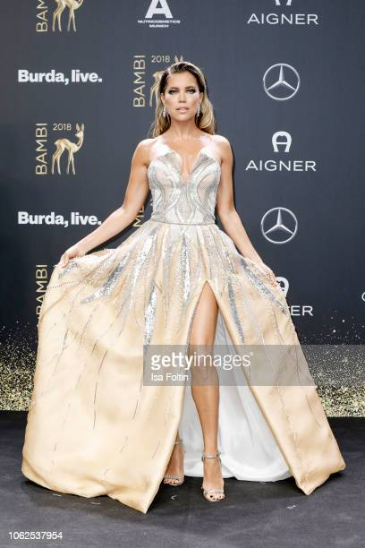 Dutch presenter Sylvie Meis attends the 70th Bambi Awards at Stage Theater on November 16 2018 in Berlin Germany