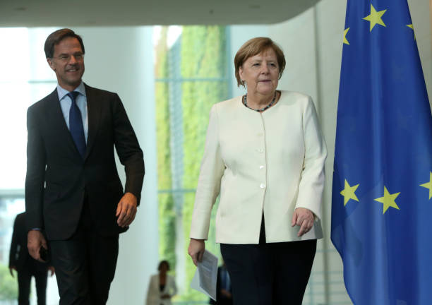 DEU: Dutch Prime Minister Rutte Meets With Merkel In Berlin