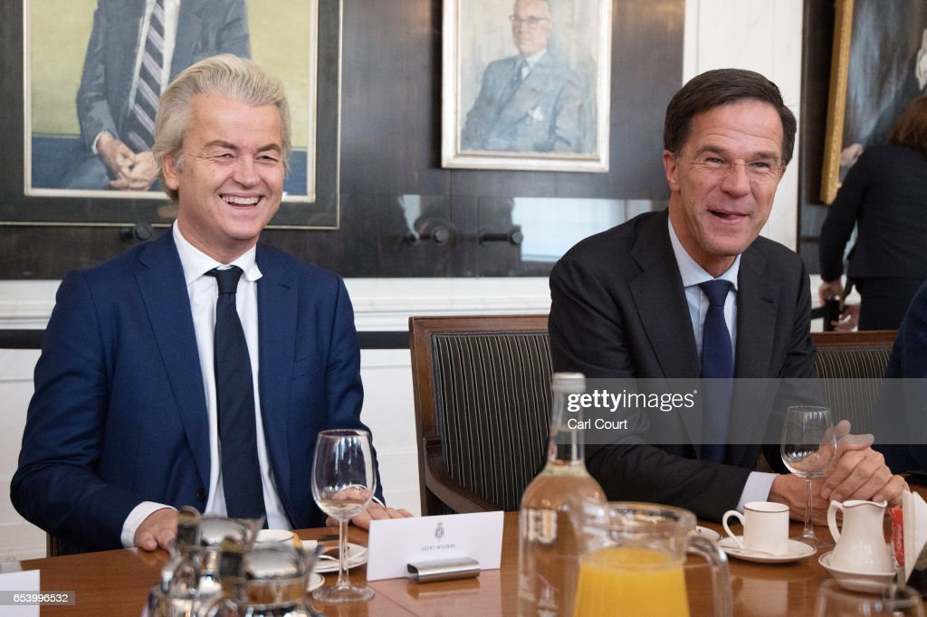 Dutch Party Leaders Meet After General Election Results : News Photo