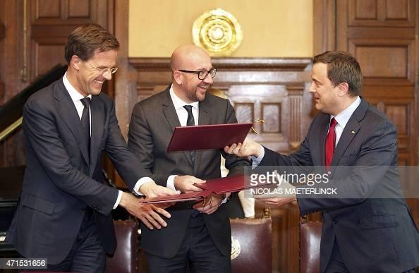Maurits Hendriks Netherlands Prime Minister Mark Rutte L: Dutch Prime Minister Mark Rutte, Belgian Prime Minister