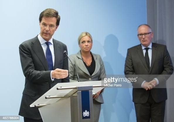 Maurits Hendriks Netherlands Prime Minister Mark Rutte L: Dutch Prime Minister Mark Rutte, Defense Minister Jeanine