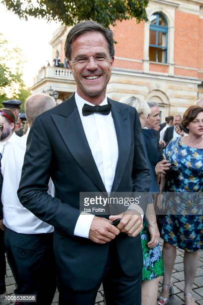Dutch Prime Minister Mark Rutte during the opening ceremony of the Bayreuth Festival at Bayreuth Festspielhaus on July 25 2018 in Bayreuth Germany