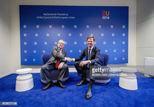 Maurits Hendriks Netherlands Prime Minister Mark Rutte L: Dutch Prime Minister Mark Rutte Shakes Hands With European