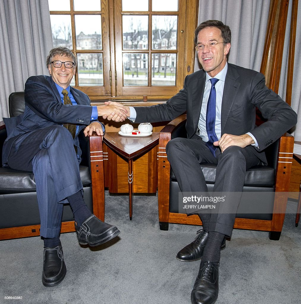 Maurits Hendriks Netherlands Prime Minister Mark Rutte L: Dutch Prime Minister Mark Rutte Shakes Hands With US Tech