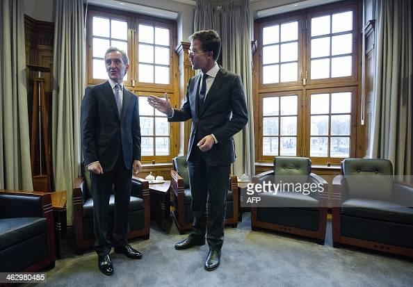 Maurits Hendriks Netherlands Prime Minister Mark Rutte L: Dutch Prime Minister Mark Rutte Welcomes Prime Minister