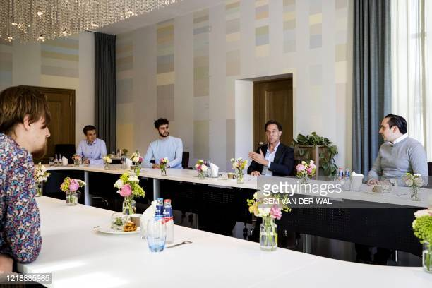 Dutch Prime Minister Rutte receives youth organizations at the Catshuis, the official residence of the Dutch prime minister, on June 9, 2020 in The...
