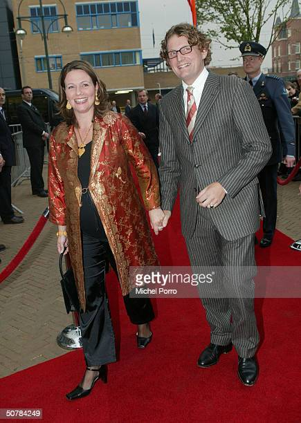 Dutch Prince Bernhard Jr and Princess Annette attend the 65th birthday celebration party of Pieter van Vollenhove at the Lion King on April 29 2004...