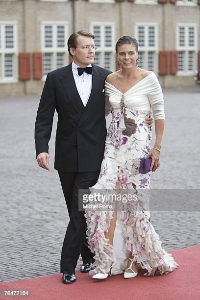 Dutch Prince Constantijn and Princess Laurentien arrive to attend celebrations marking the 40th birthday of Dutch Crown Prince Willem Alexander at...