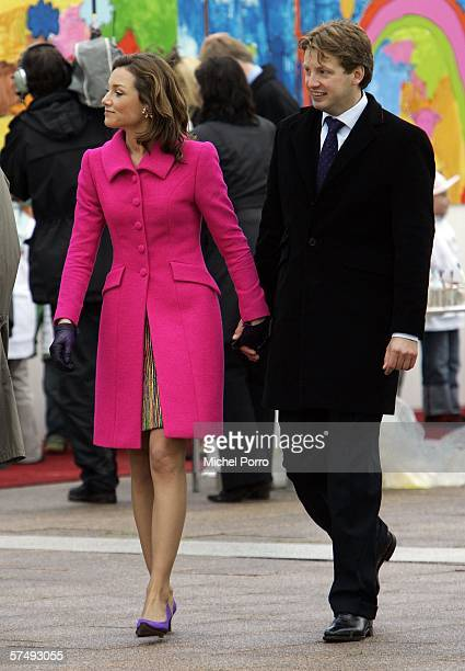 Dutch Prince Floris and Princess Aimee attend the traditional Queens Day celebratons on April 29 2006 Zeewolde The Netherlands Queen Beatrix and...