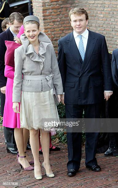 Dutch Prince Friso and Princess Mabel arrive for the baptism of Dutch Princess Alexia on November 19 2005 in Wassenaar The Netherlands The second...