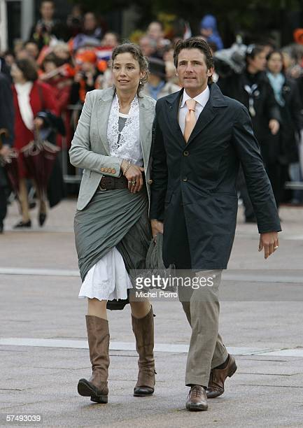 Dutch Prince Maurits and Princess Marilene attend the traditional Queens Day celebratons on April 29 2006 Zeewolde The Netherlands Queen Beatrix and...