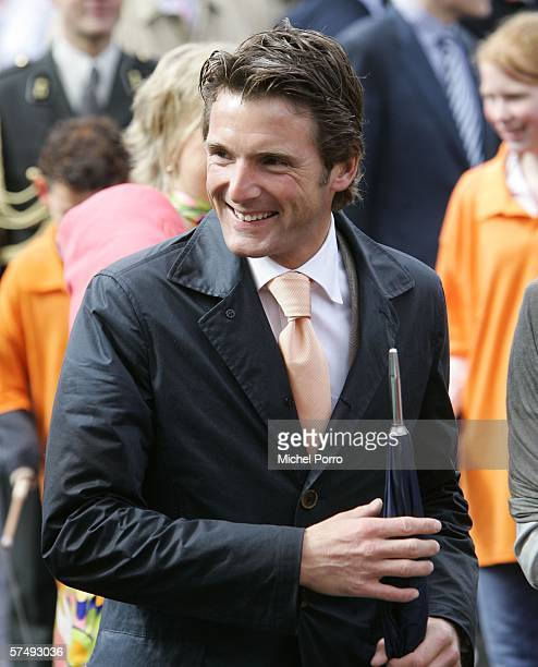 Dutch Prince Maurits attends the traditional Queens Day celebratons on April 29 2006 Zeewolde The Netherlands Queen Beatrix and several members of...