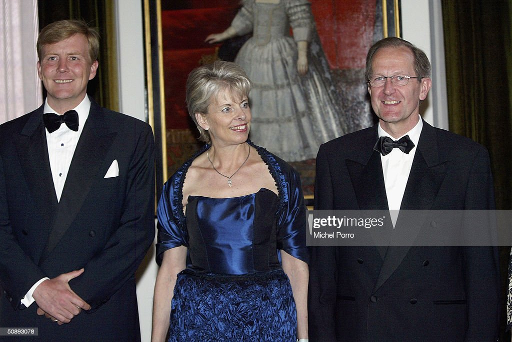 Dutch Prince Willem Alexander (L) attends a dinner held in the honor of the Swiss President Joseph Deiss and his wife at the beginning of their state visit to The Netherlands on May 24, 2004 in Amsterdam, The Netherlands.
