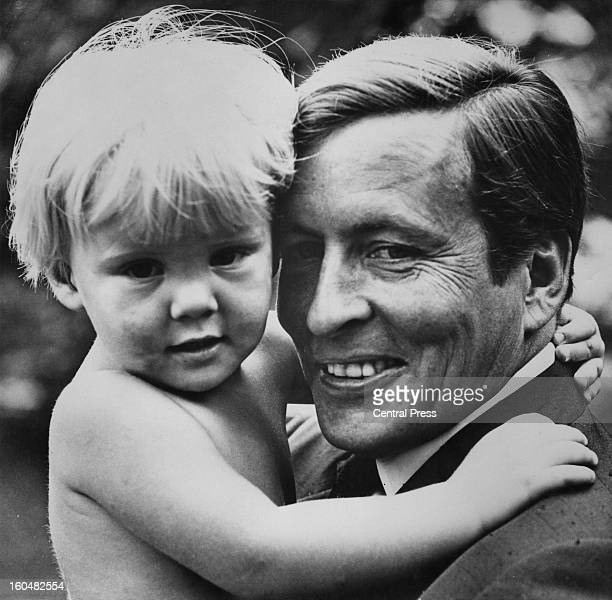 Dutch Prince WillemAlexander aged 2 and a half with his father Prince Claus Drakesteyn Holland 15th September 1969 Photo taken by court photographer...