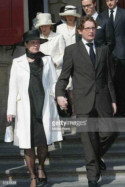 Dutch Princess Annette and Prince Bernhard Jr arrives at the funeral for the Queen Mother Princess Juliana at Nieuwe Kerk on March 30 2004 in Delft...