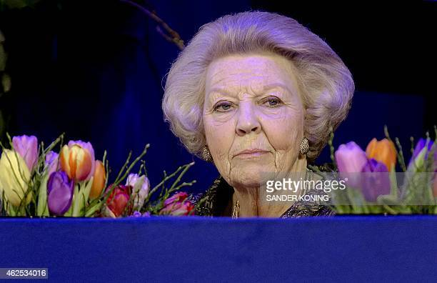 Dutch Princess Beatrix attends the 56th edition of the equestrian event Jumping Amsterdam in Amsterdam The Netherlands on January 30 2015 Princess...