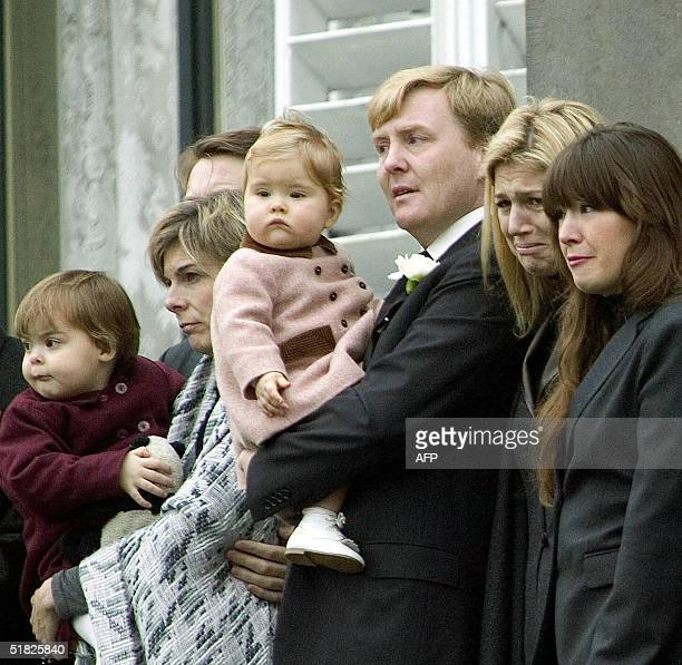 Dutch Princess Laurentien and her daughter Eloise Prince WillemAlexander and Princess Maxima with their daughter Amaila and Princess Juliana pay...