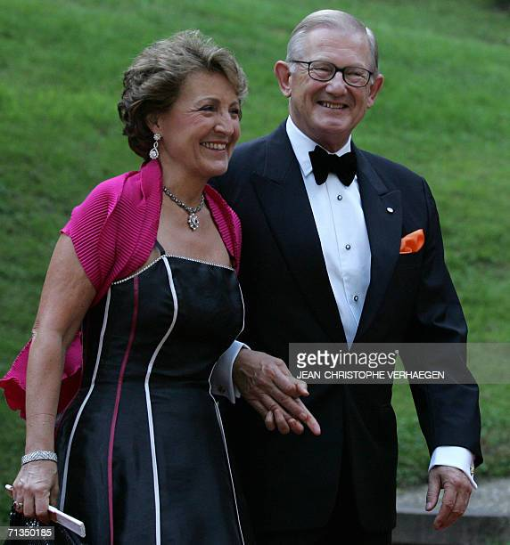 Dutch Princess Margriet and Pieter van Vollenhoven arrive at the castle of Berg before a special dinner and party for Grand Duke Henri of Luxembourg...