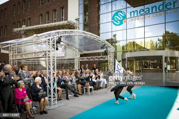 Dutch Princess Margriet attends the official opening ceremony of the Meander Medical Centre in Amersfoort, on June 6, 2014. AFP PHOTO /ANP / FREEK...