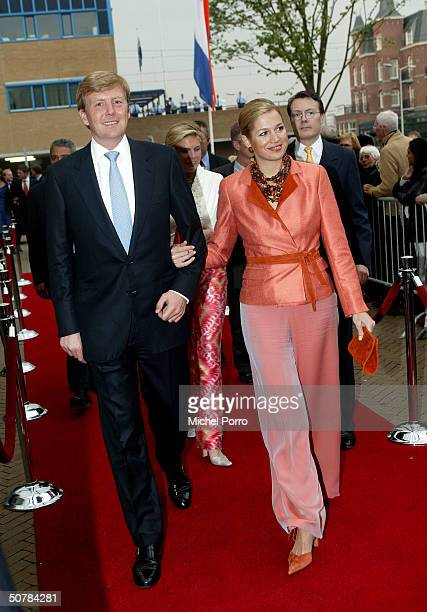 Dutch Princess Maxima and Crown Prince Willem Alexander attend the 65th birthday celebration party of Pieter van Vollenhove, at the Lion King on...
