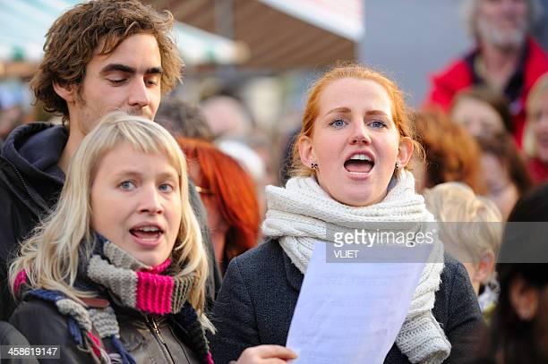 Dutch protest gegen die Regierung Kürzungen auf Kultur und Kunst