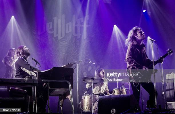 Dutch psychedelic blues rock band DeWolff with Pablo van de Poel guitar vocals Luka van de Poel drums vocals and Robin Piso Hammond organ vocals...