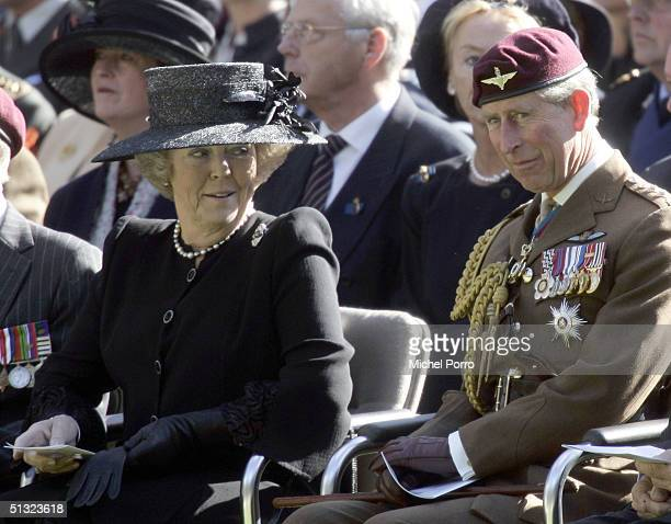 Dutch Queen Beatrix and Prince of Wales attend the 60th commemoration service of the allied Operation Market Garden or the Battle of Arnhem which...
