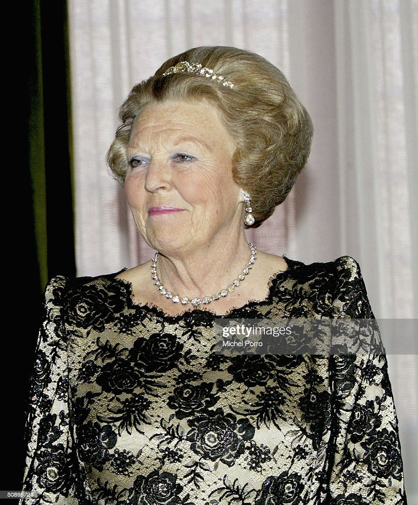 Dutch Queen Beatrix attends a dinner held in the honor of the Swiss President Joseph Deiss and his wife at the beginning of their state visit to The Netherlands on May 24, 2004 in Amsterdam, The Netherlands.