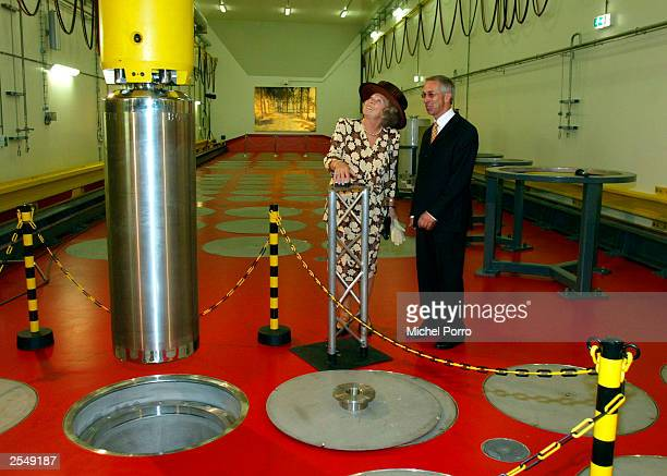Dutch Queen Beatrix attends the opening of a new storage facility for highly reactive nuclear waste September 30, 2003 in Borssele, the Netherlands....