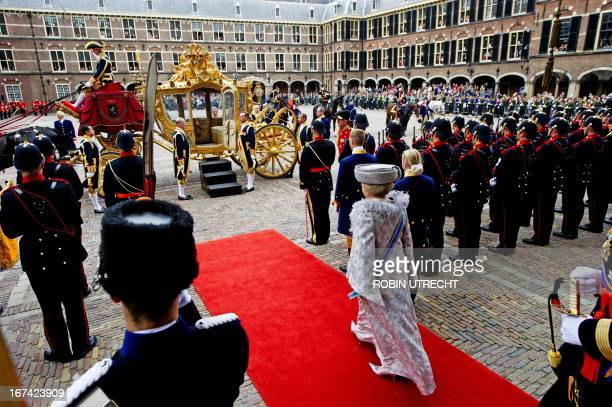 Dutch Queen Beatrix leaves on Budget Day in the Ridderzaal in The Hague, on Tuesday, September 20, 2011.With the annual queen speech, the Dutch Queen...