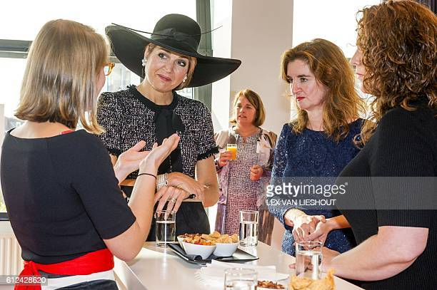 Dutch Queen Maxima attends the opening of the European congress on nursing care for the elderly in Rotterdam on October 4 2016 / AFP / ANP / Lex van...